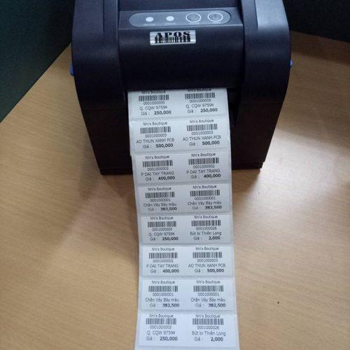 máy in mã vạch 2 tem
