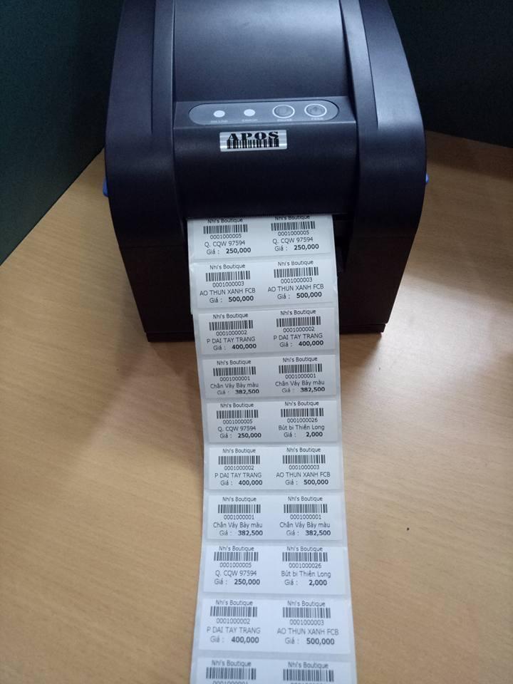 Những ƯU ĐIỂM vượt trội của máy in mã vạch 2 tem bạn nên biết