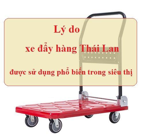 4 lý do giúp xe đẩy hàng Thái Lan được sử dụng phổ biến trong siêu thị
